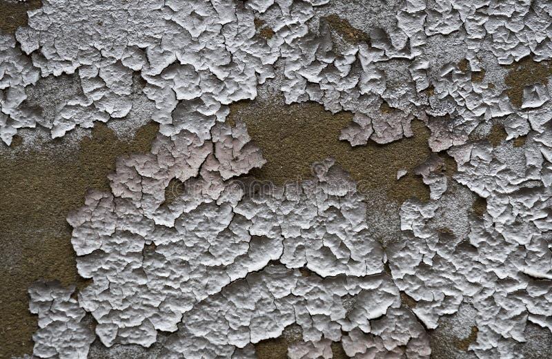 五颜六色的破裂的油漆背景在墙壁上绘了被绘 免版税图库摄影