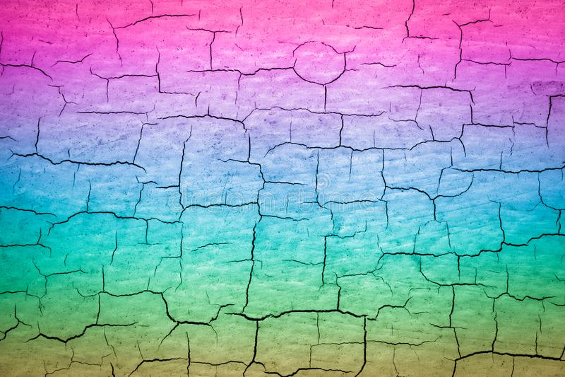 五颜六色的破裂的油漆 向量例证