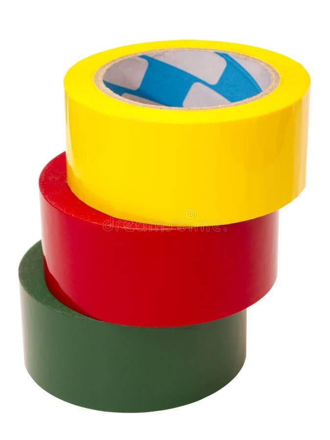 五颜六色的磁带 图库摄影
