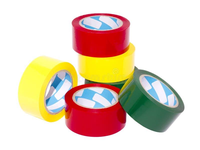 五颜六色的磁带 库存图片