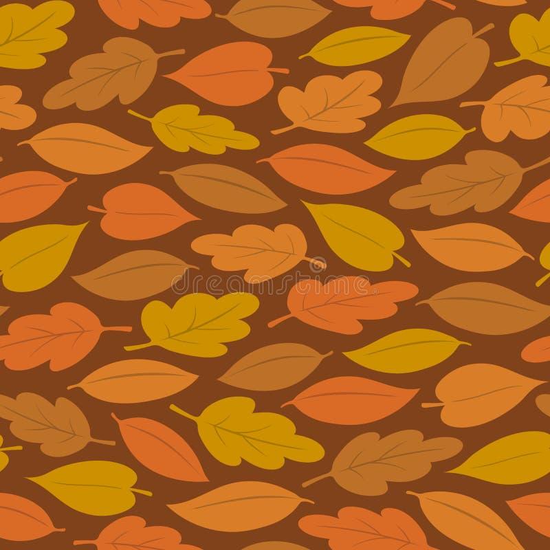 五颜六色的秋叶的无缝的样式 皇族释放例证