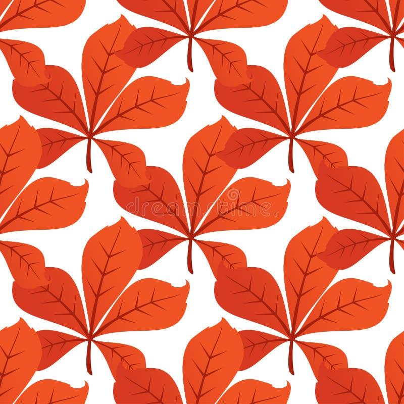 五颜六色的秋天叶子背景无缝的样式 皇族释放例证