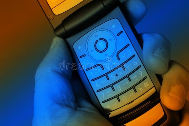 五颜六色的移动电话 免版税库存图片