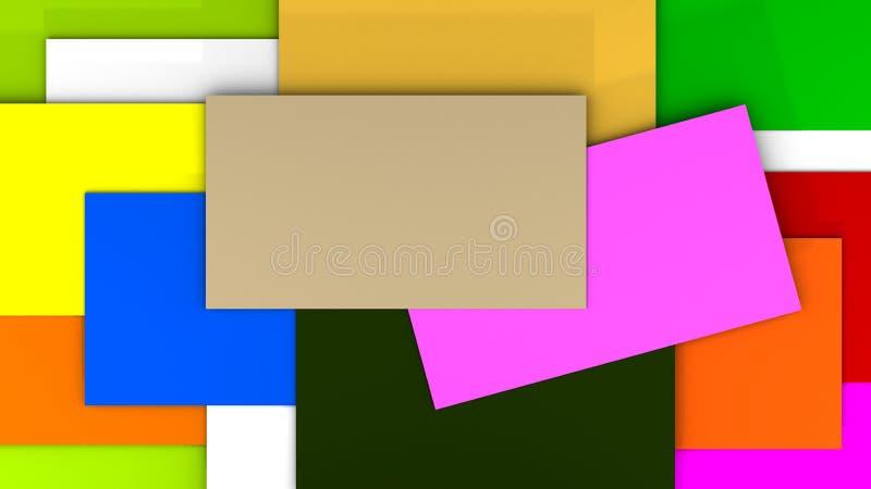 五颜六色的空白的背景3d翻译 皇族释放例证
