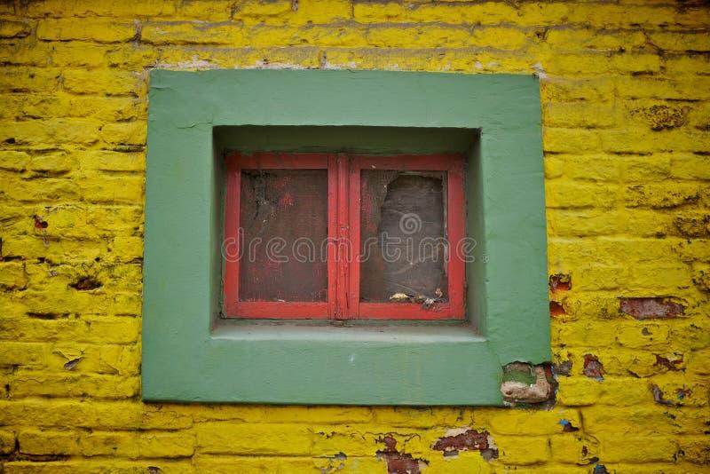 五颜六色的窗口在布宜诺斯艾利斯 图库摄影