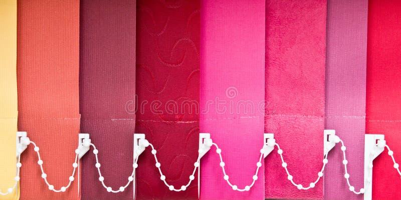 五颜六色的窗帘 库存照片