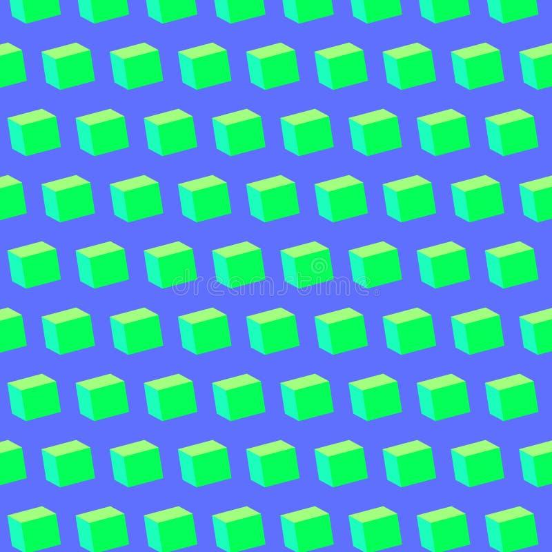 五颜六色的立方体样式背景传染媒介 向量例证