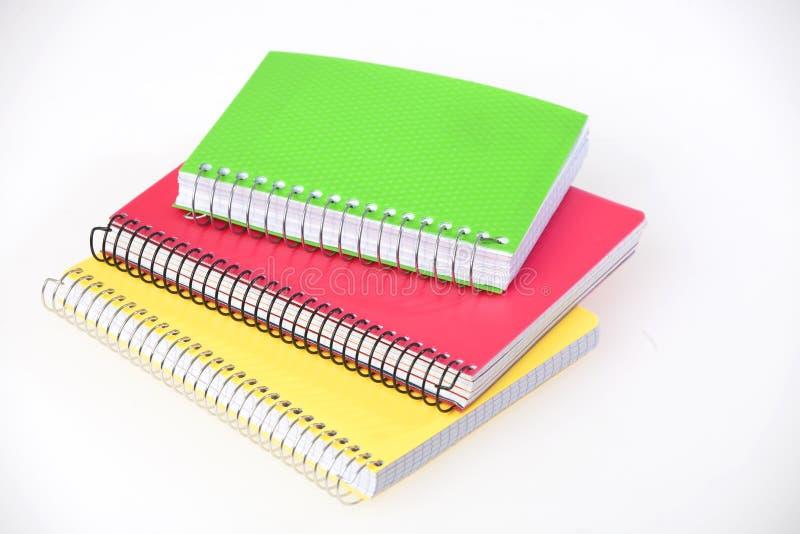 五颜六色的笔记本 免版税库存照片