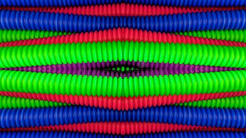 五颜六色的管子艺术 皇族释放例证