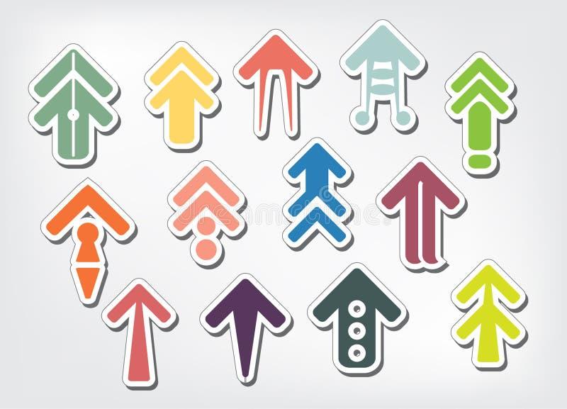 五颜六色的箭头的传染媒介例证 皇族释放例证