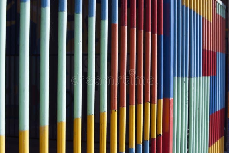 五颜六色的篱芭 图库摄影