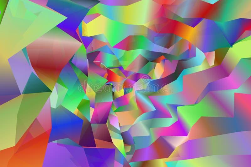 五颜六色的精力充沛的抽象背景图象 向量例证
