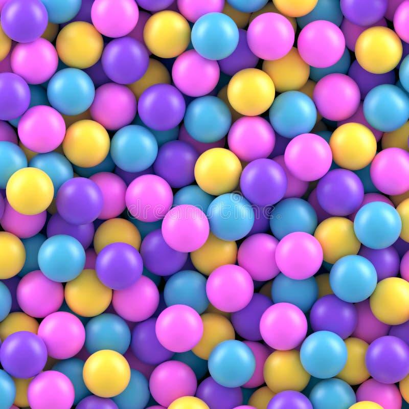 五颜六色的糖果甜gumballs导航背景 库存例证