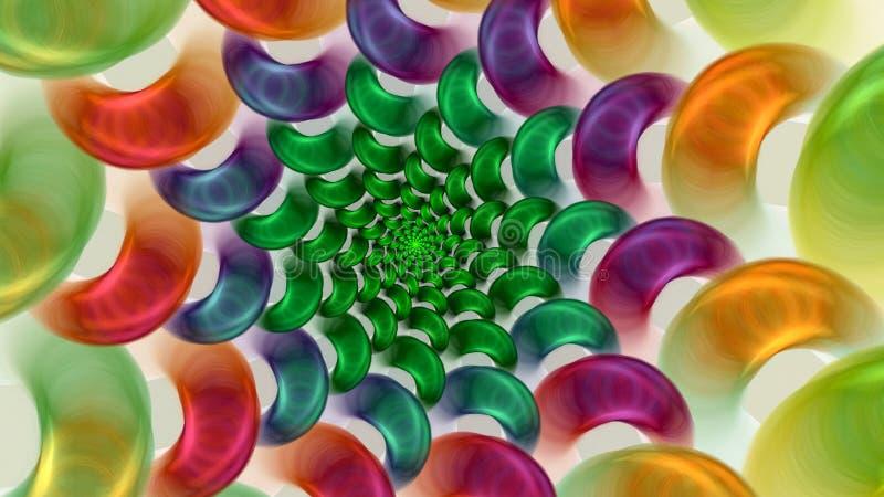 五颜六色的糖果 库存例证