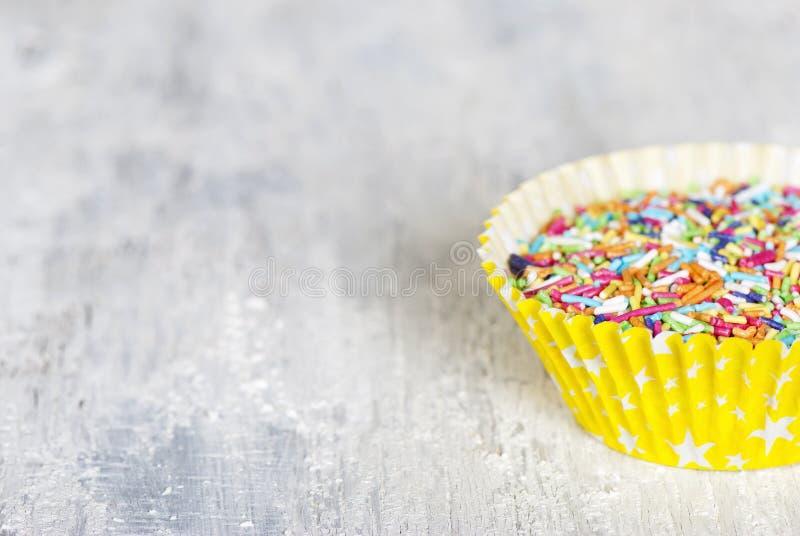 五颜六色的糖果洒 免版税库存图片