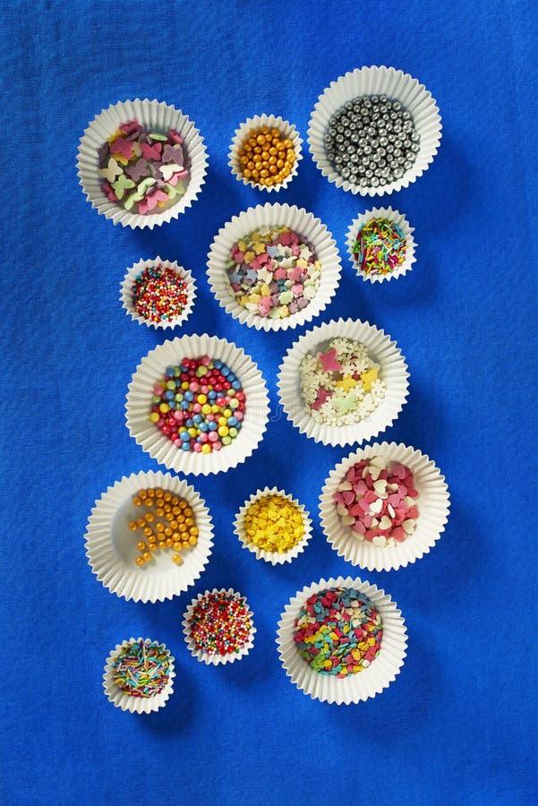 五颜六色的糖糖衣杏仁 免版税库存照片