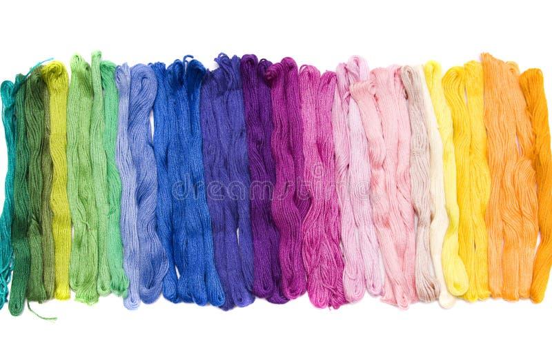 五颜六色的纱线 库存照片