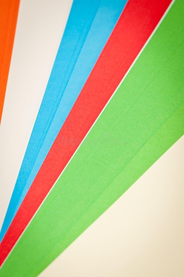 五颜六色的纸数据条 免版税图库摄影