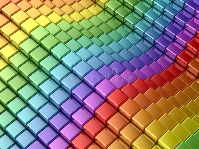 五颜六色的线路彩虹 皇族释放例证