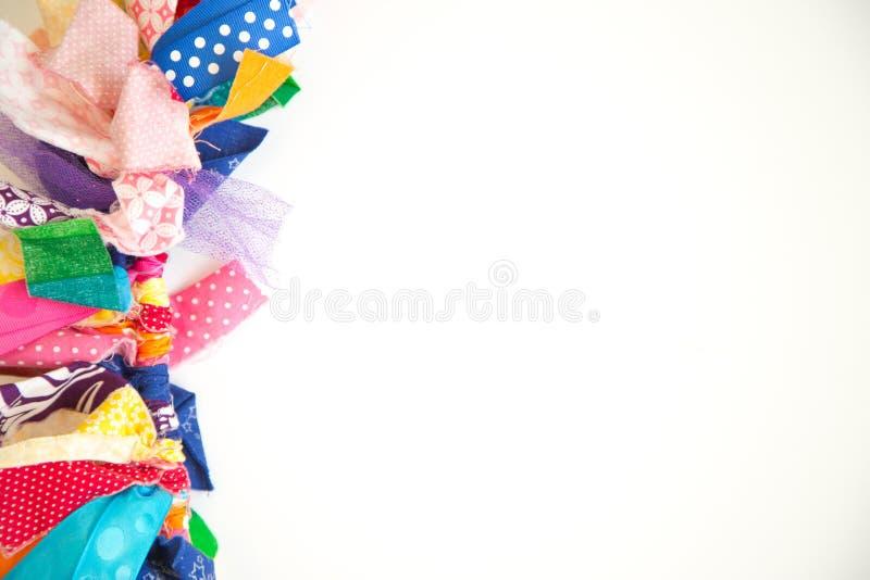 五颜六色的织品样片 免版税库存图片