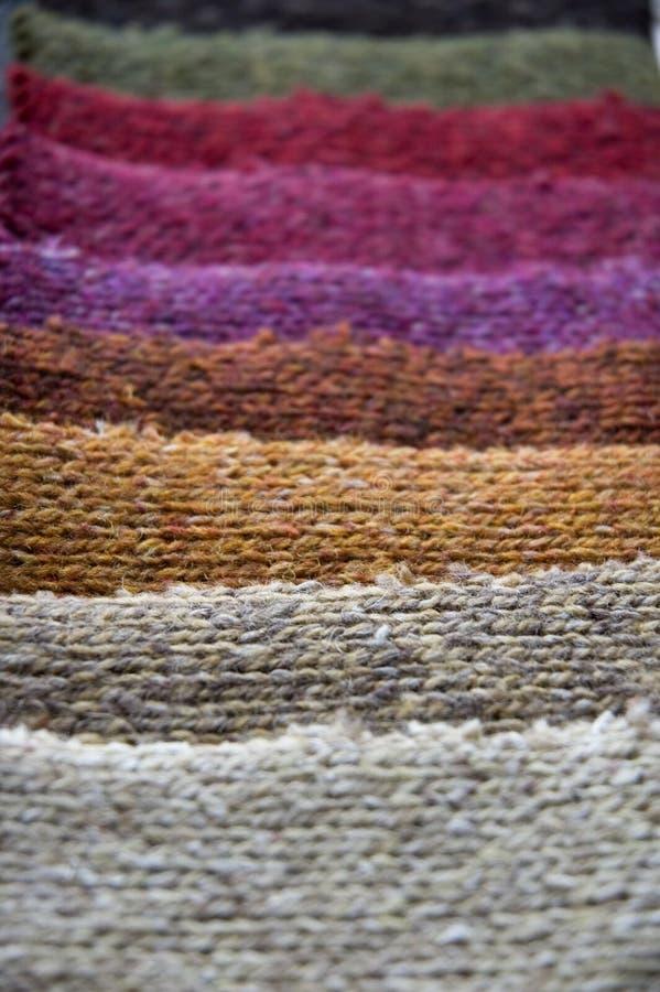 五颜六色的织品综合 库存图片