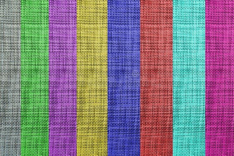 五颜六色的织地不很细织品背景艺术 库存照片