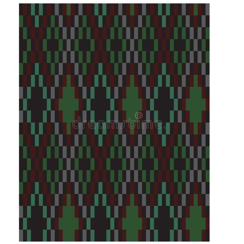 五颜六色的经典之作现代阿盖尔无缝的印刷品样式 库存例证