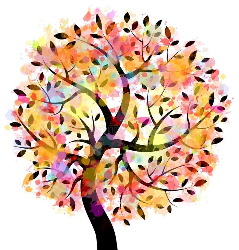五颜六色的结构树 皇族释放例证