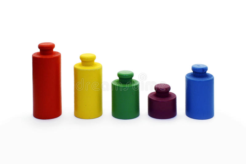 五颜六色的绘制重量 库存照片