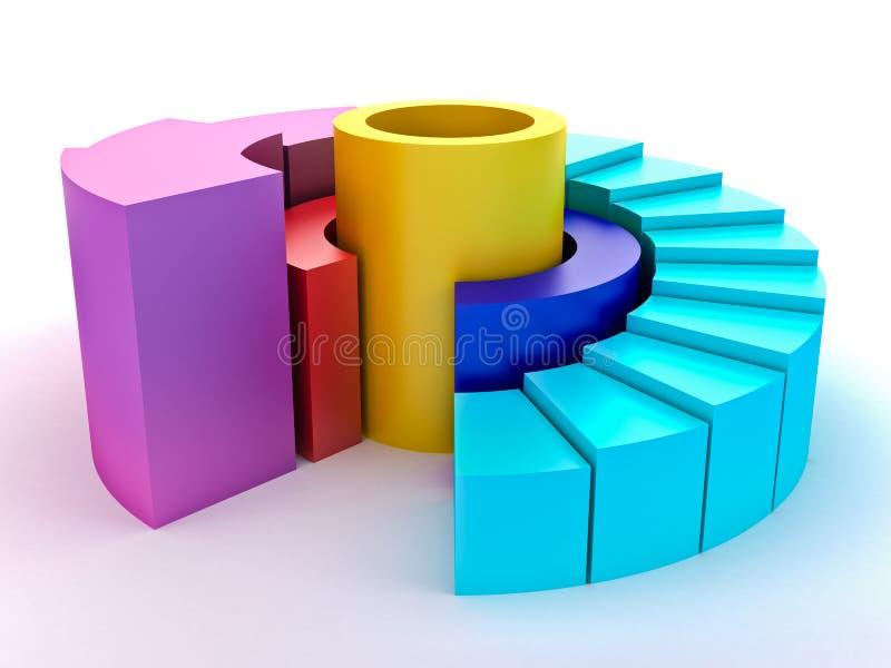 五颜六色的绘制 向量例证