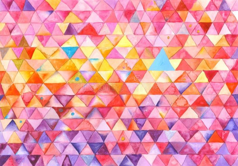 五颜六色的绘画三角 向量例证