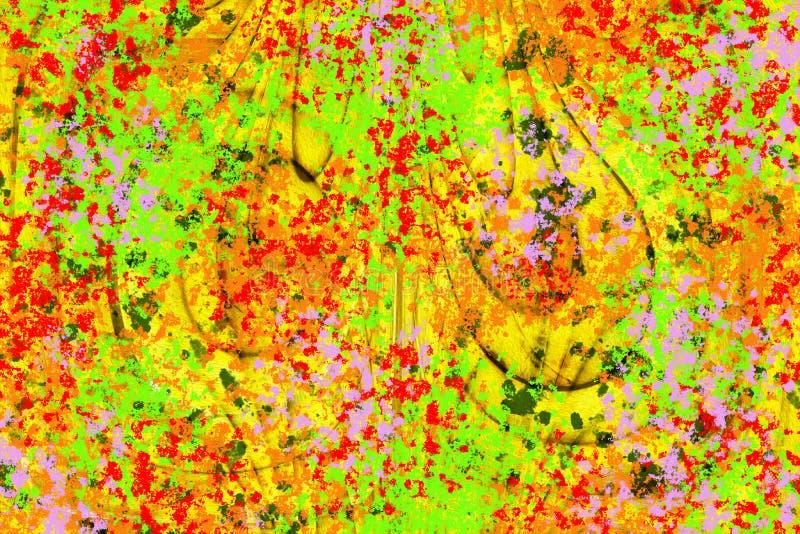 五颜六色的绿色,红色,紫色和黄色抽象背景 免版税库存图片