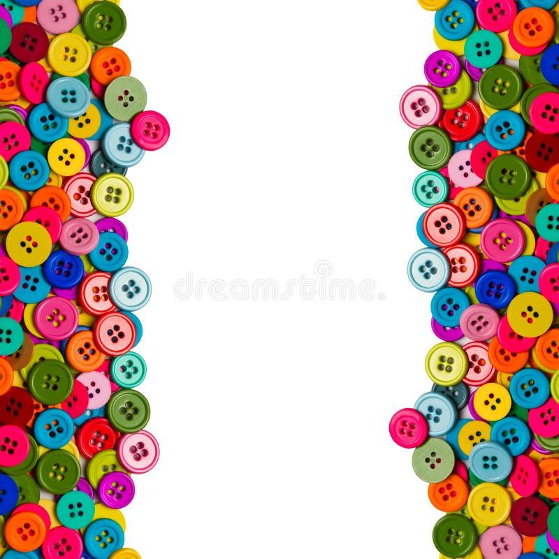 五颜六色的缝合的按钮 免版税图库摄影