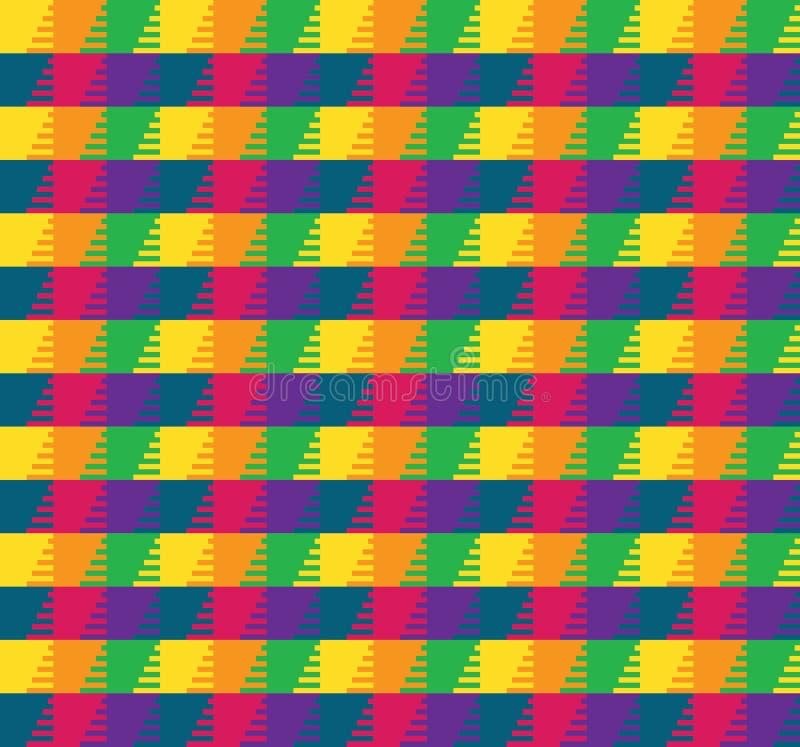 五颜六色的网格图形 皇族释放例证