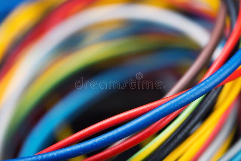 五颜六色的网络缆绳 免版税库存图片