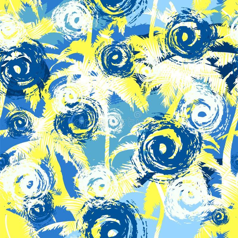 五颜六色的美好的抽象无缝的样式背景 为墙纸,网页背景,表面纹理,纺织品完善 皇族释放例证