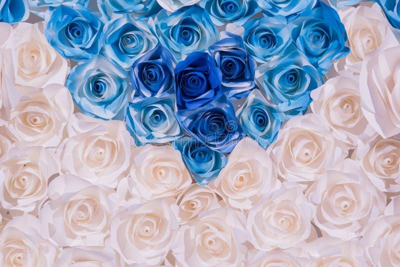 五颜六色的美好的玫瑰色花纸背景 皇族释放例证