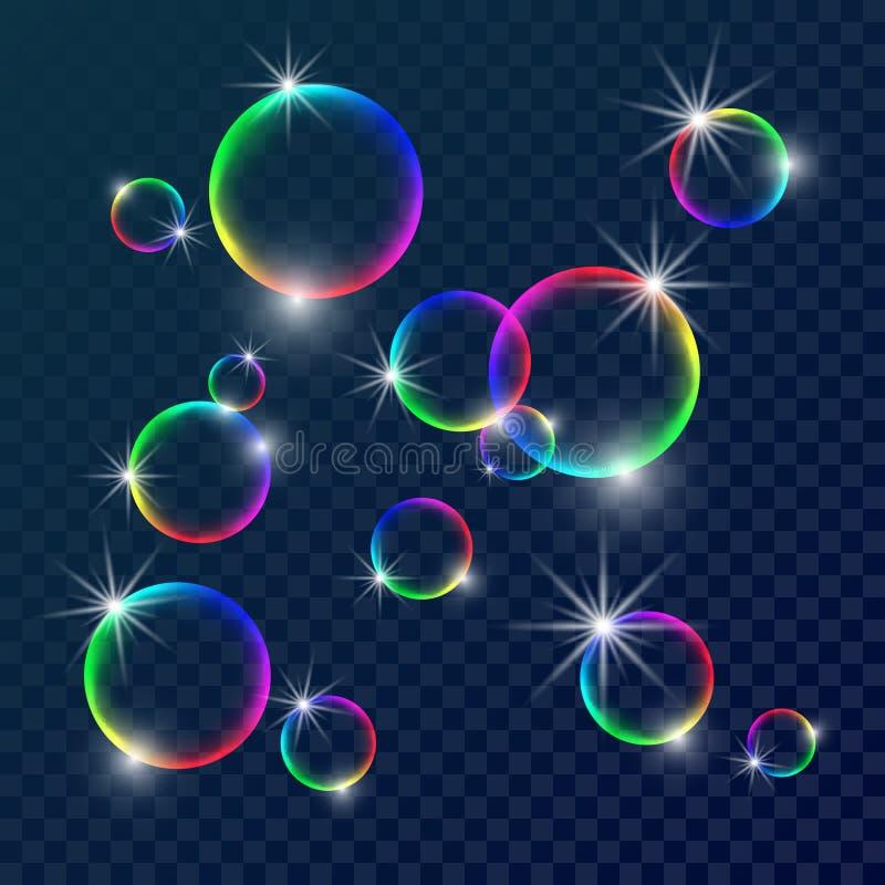 五颜六色的肥皂泡 免版税库存图片