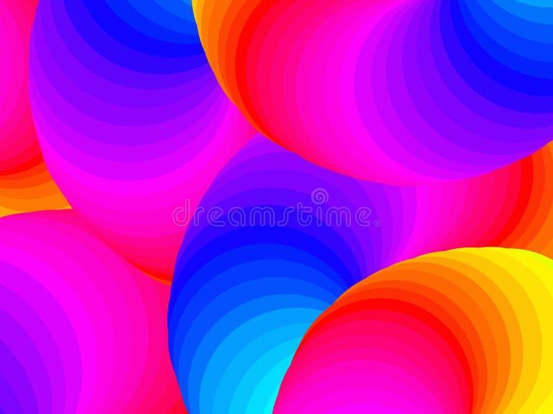五颜六色的背景 向量 库存例证