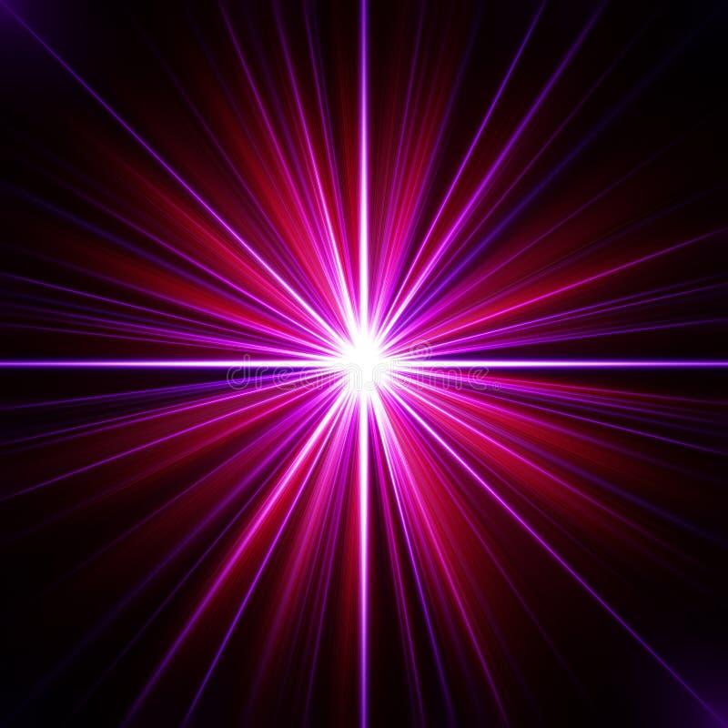 五颜六色的能源展开荧光的普遍性 库存例证