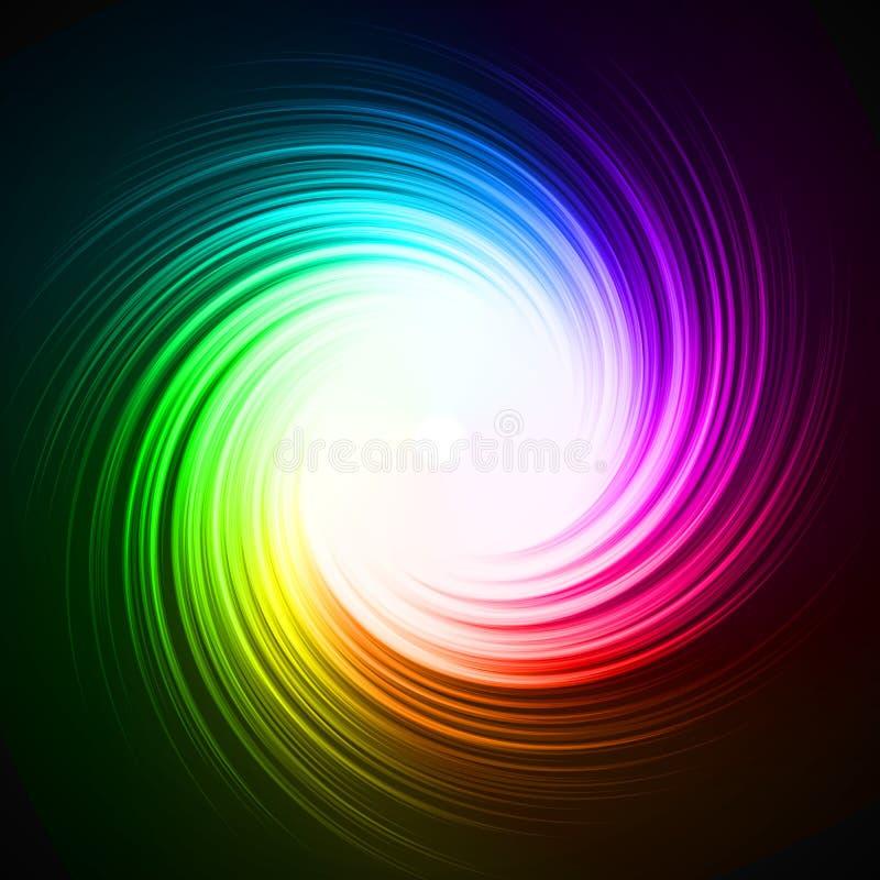 五颜六色的能量漩涡 向量例证