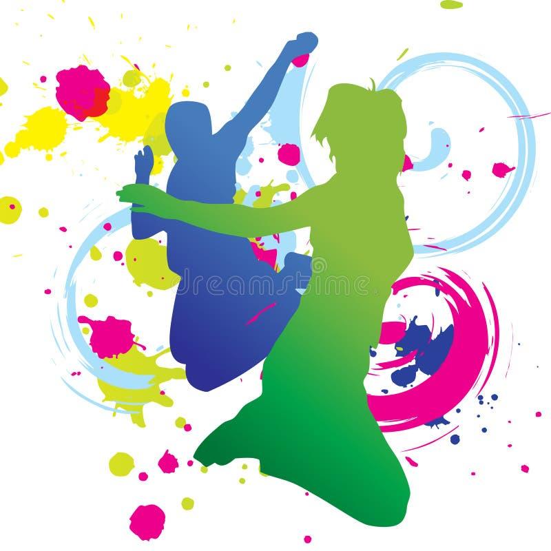 五颜六色的舞蹈图象向量 皇族释放例证