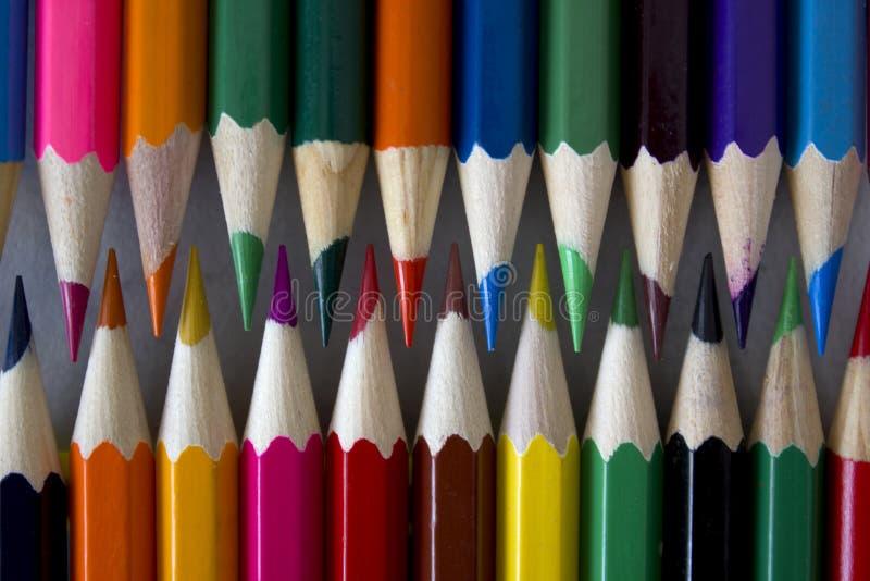 五颜六色的色的铅笔 免版税库存图片