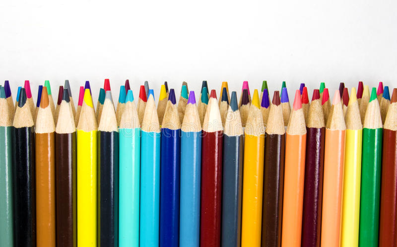 五颜六色的艺术铅笔 图库摄影