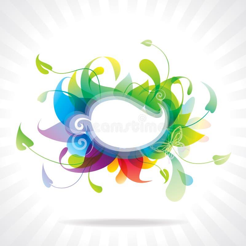 五颜六色的花卉框架。 向量例证