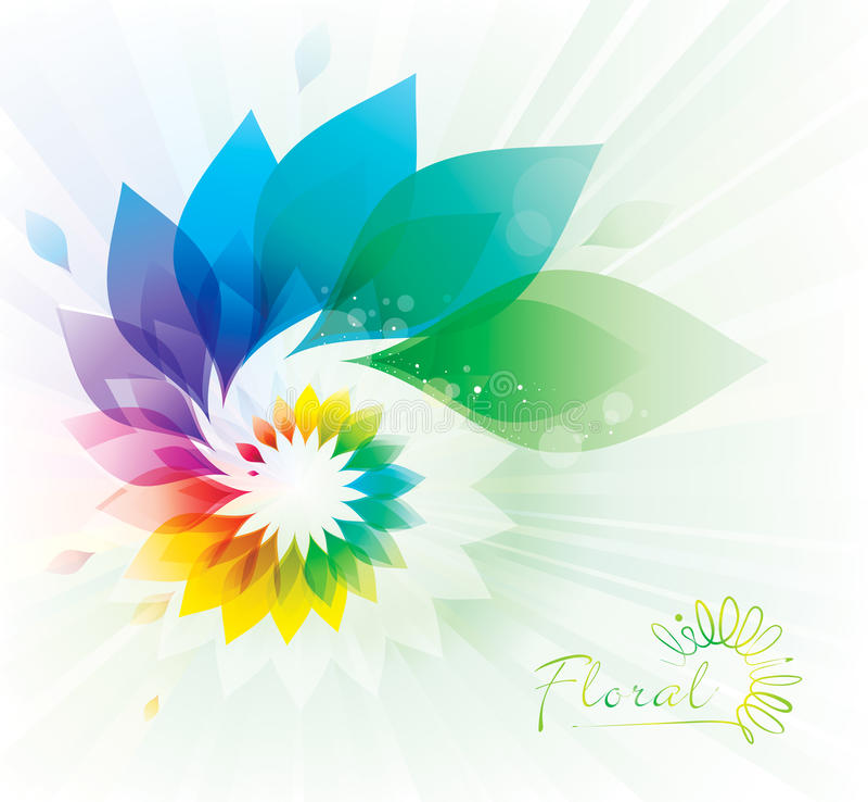 五颜六色的花卉漩涡 皇族释放例证