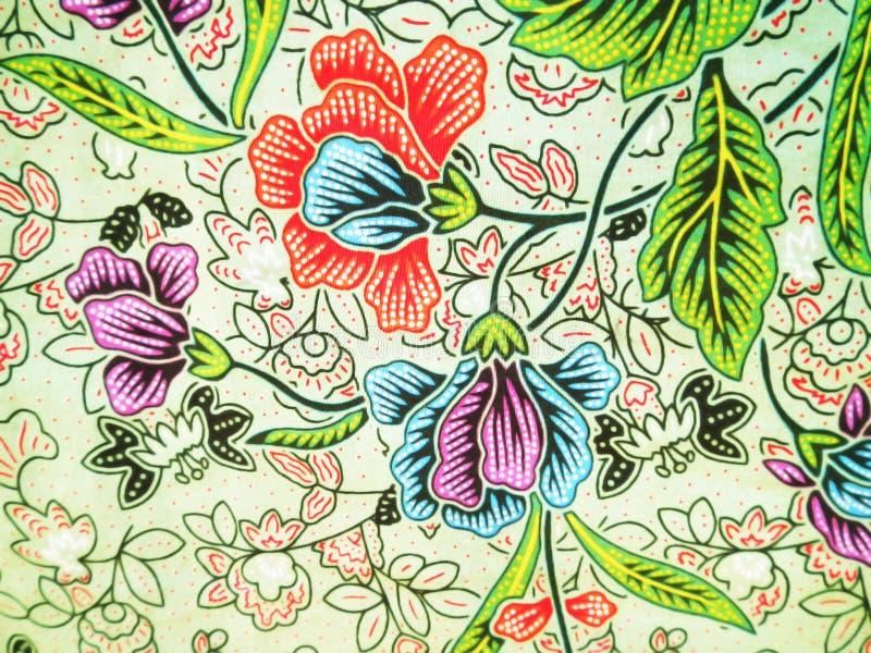 五颜六色的花卉蜡染布样式 皇族释放例证