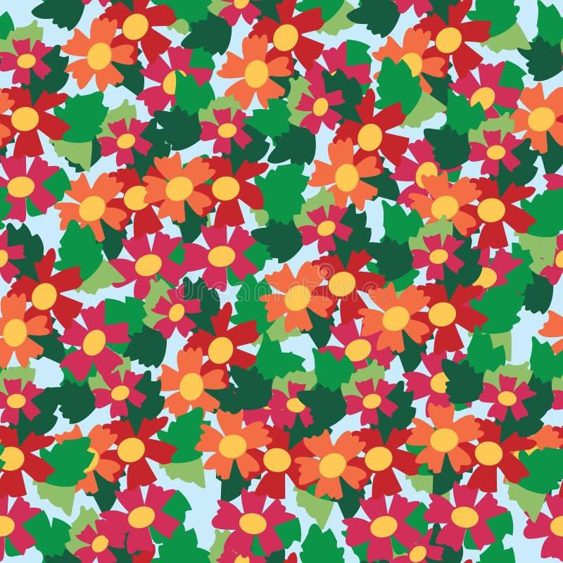Download 五颜六色的花和叶子背景的无缝的样式 向量例证. 插画 包括有 重复, 设计, 花卉, 颜色, 纺织品, 装饰品 - 30330094