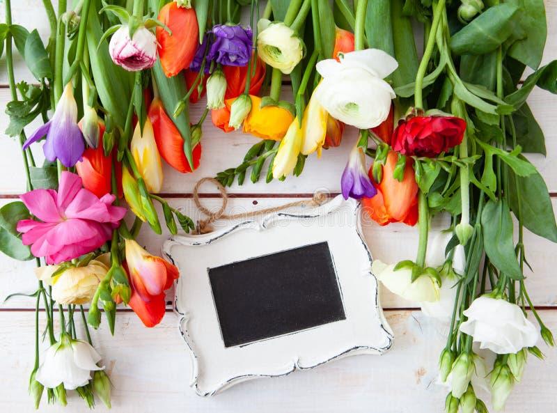 五颜六色的花春天 图库摄影