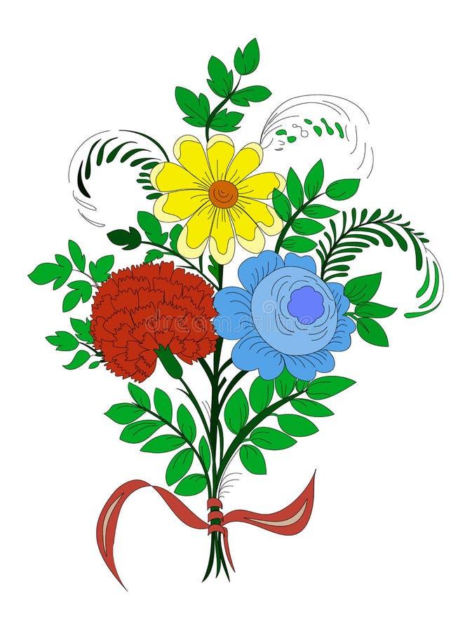 五颜六色的花束 免版税库存照片